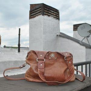 Marc Jacobs Cognac Leather Shoulder Bag